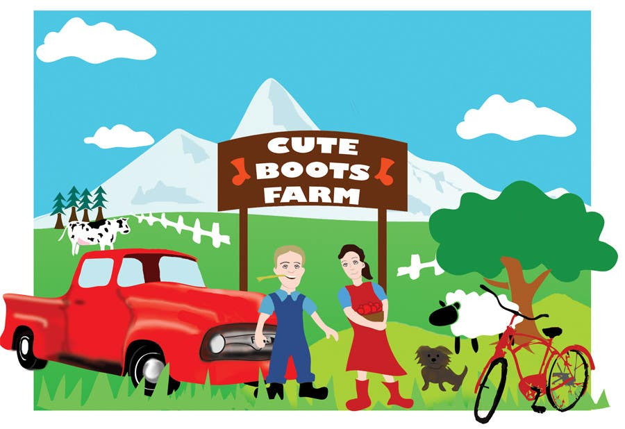 Contest Entry #                                        13                                      for                                         Illustration Design for Cute Boots Farms