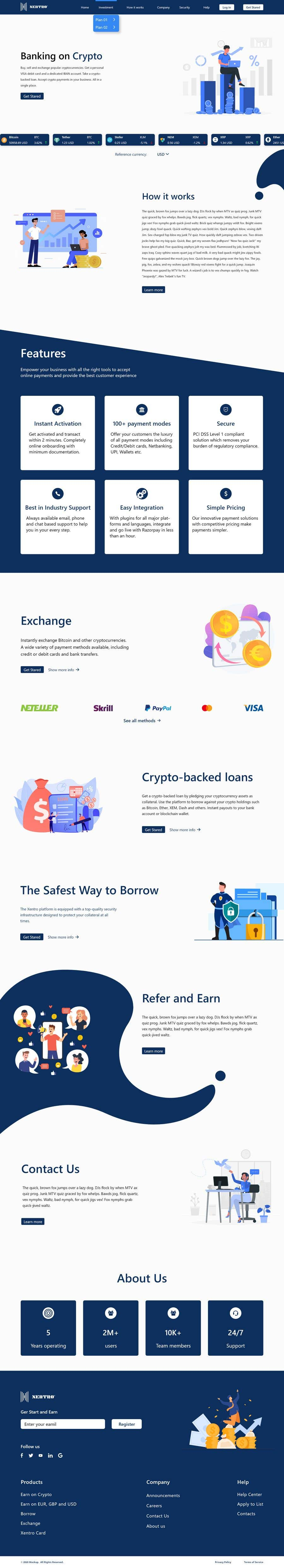 Contest Entry #                                        31                                      for                                         Ui designing for Static pages of a Crypto platform.