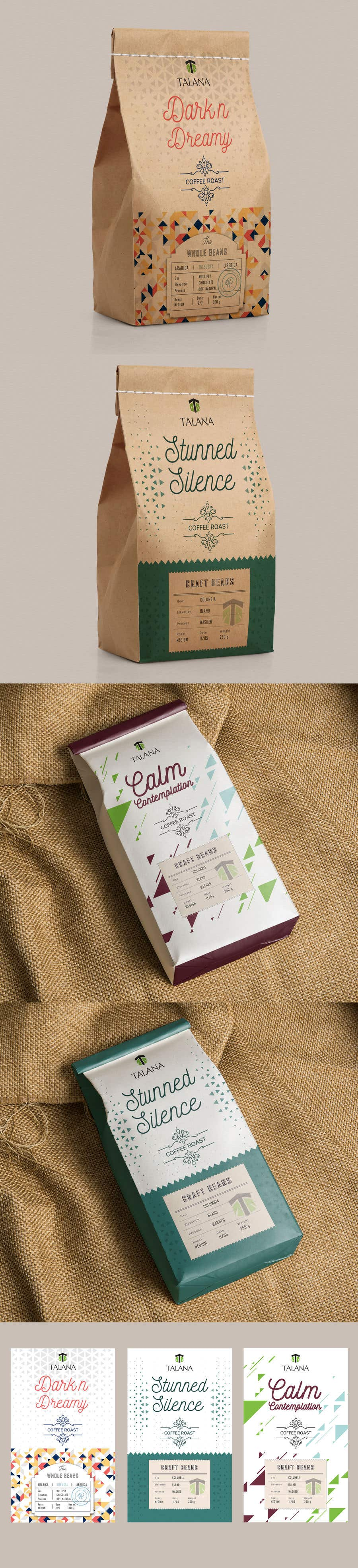 Kilpailutyö #                                        101                                      kilpailussa                                         Talana Coffee package label design