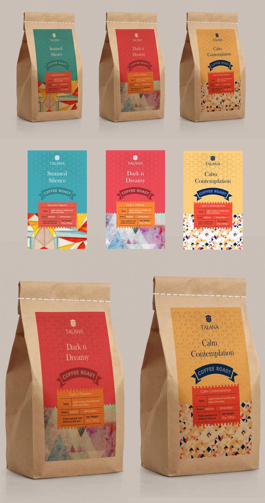 Kilpailutyö #                                        136                                      kilpailussa                                         Talana Coffee package label design