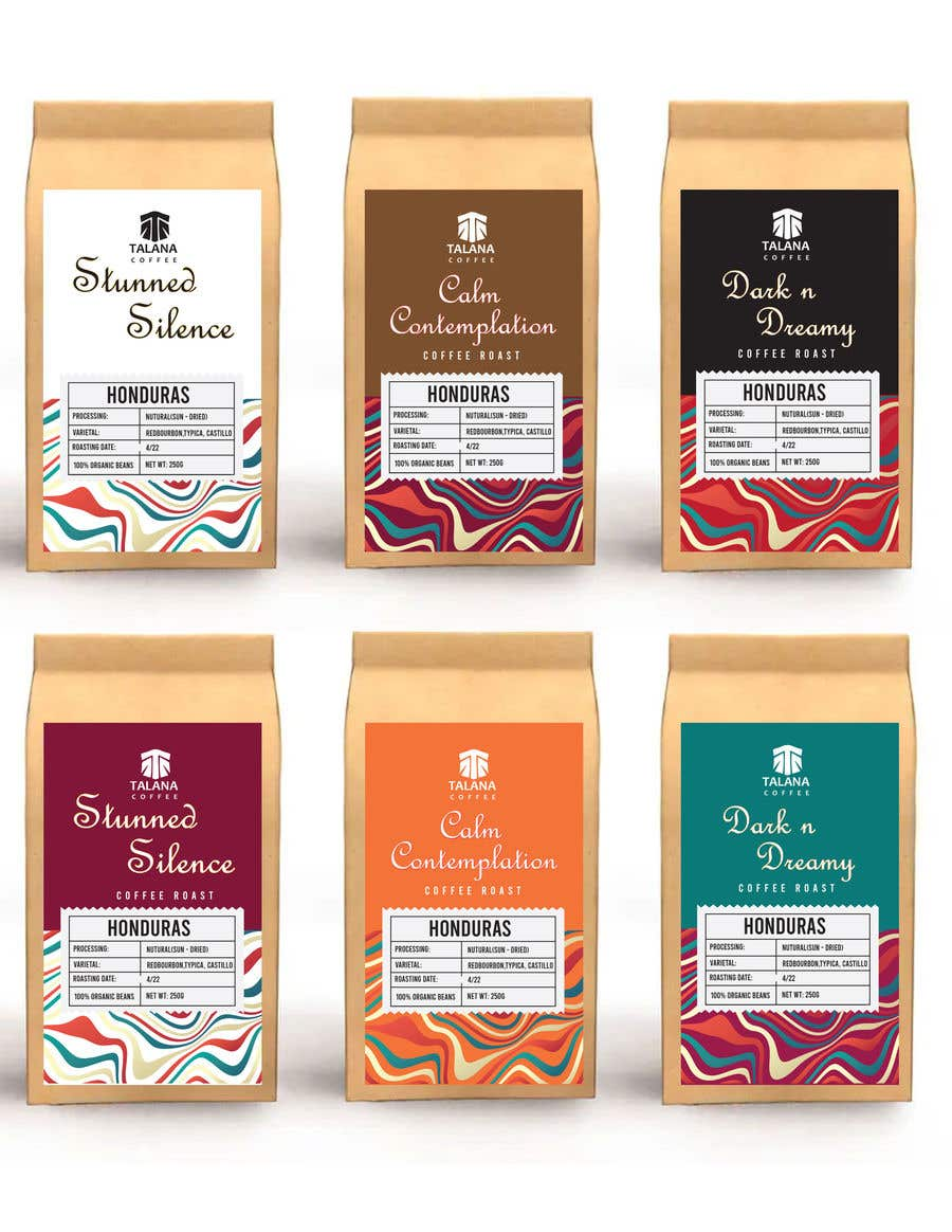 Kilpailutyö #                                        50                                      kilpailussa                                         Talana Coffee package label design