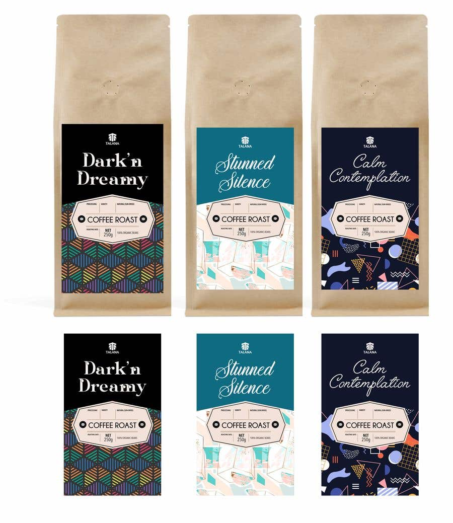 Kilpailutyö #                                        134                                      kilpailussa                                         Talana Coffee package label design