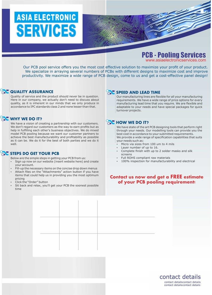 Entry #11 by keshidesigner for Design a Brochure for selling PCB