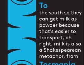 #168 untuk Milk Road to Tasmania Design Contest 1 Page Poster $80 oleh Hx1m