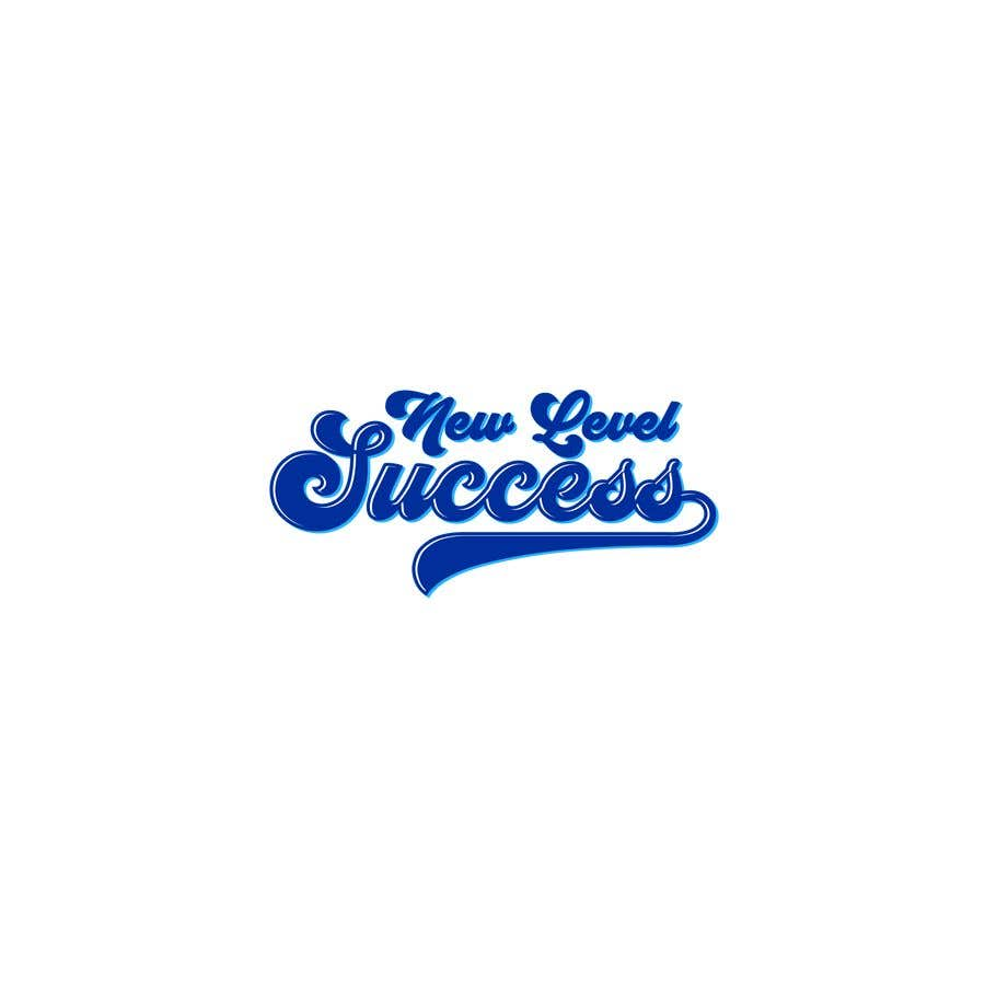 """Penyertaan Peraduan #                                        79                                      untuk                                         I need a logo designed. I want """"New Level Success"""" in the same style as the Dodgers logo that I will be attaching. - 05/04/2021 23:17 EDT"""