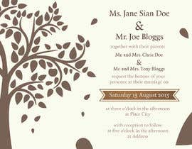 #40 untuk Design some Stationery for a Wedding oleh nicogdart