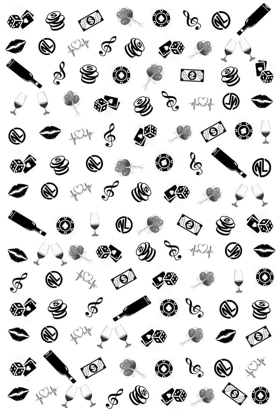 Kilpailutyö #                                        28                                      kilpailussa                                         I looking for a Repeating Pattern with my brand in mind