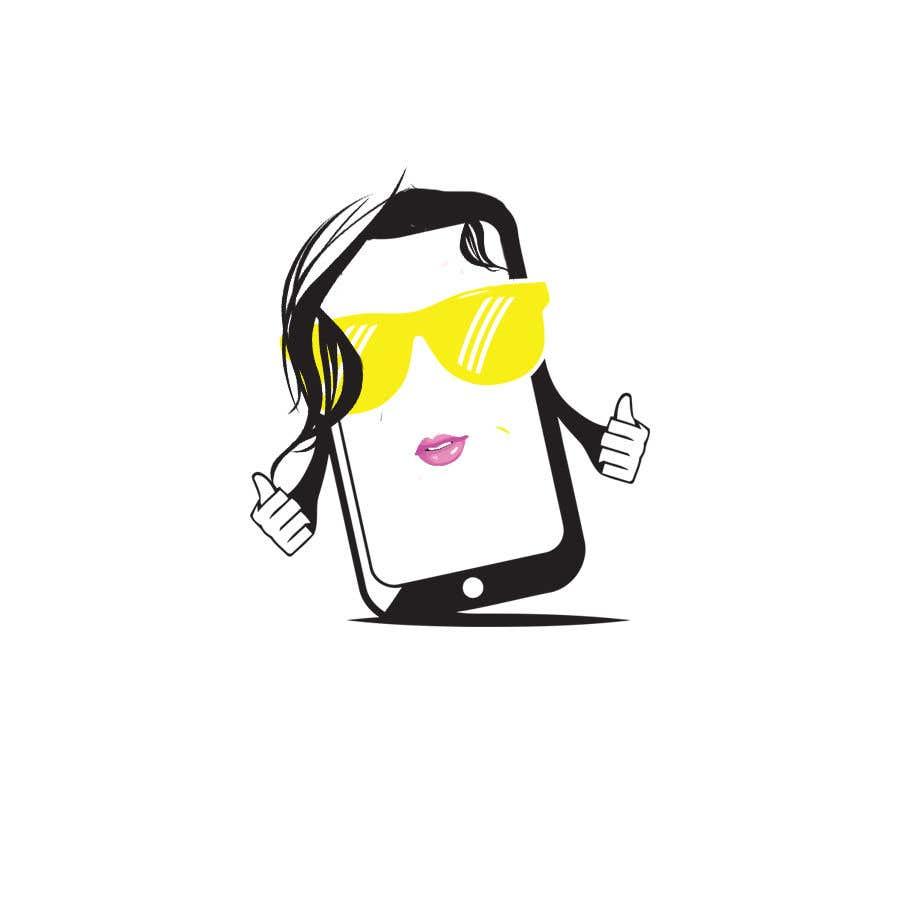 Penyertaan Peraduan #                                        51                                      untuk                                         Design a Smartphone girl icon based on previous icon concept