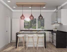 nº 52 pour 3D rendering kitchen, bathroom. par GreenJorAi