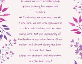 #10 pentru Brand Profile for my brand 'Maatratva' de către zolybett