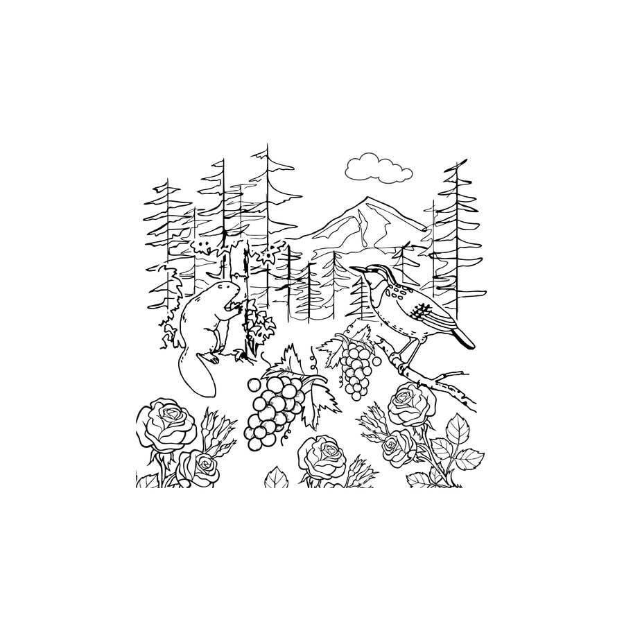 Penyertaan Peraduan #                                        9                                      untuk                                         Draw a coloring page for a Portland, Oregon restaurant