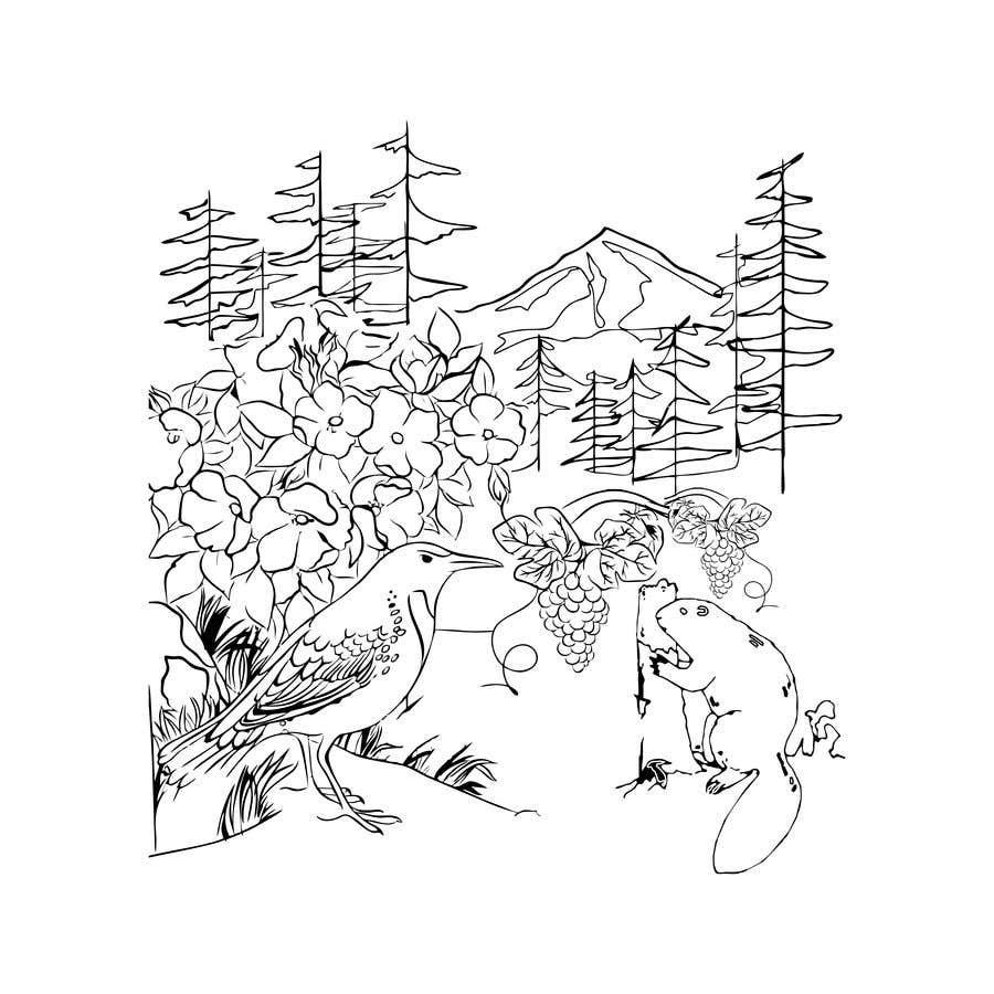 Penyertaan Peraduan #                                        42                                      untuk                                         Draw a coloring page for a Portland, Oregon restaurant