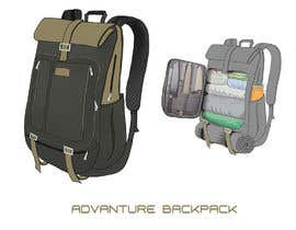 #31 for Design a sketch of an adventure backpack af Yoon58