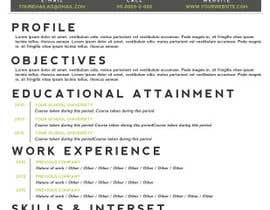 #8 for A inventive Resume template af RonRamores