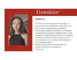 emmakng16 tarafından Mix Spanish spoken videos and add English Audio Translation için no 7