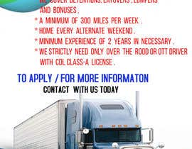 #49 for Poster for Hiring CDL class-A Truck drivers for Liberty truck lines af wwwyeasin5555
