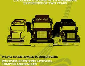 #43 for Poster for Hiring CDL class-A Truck drivers for Liberty truck lines af Yeexus