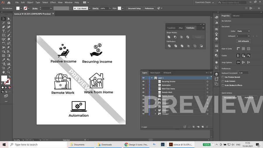 Konkurrenceindlæg #                                        5                                      for                                         Design 5 icons