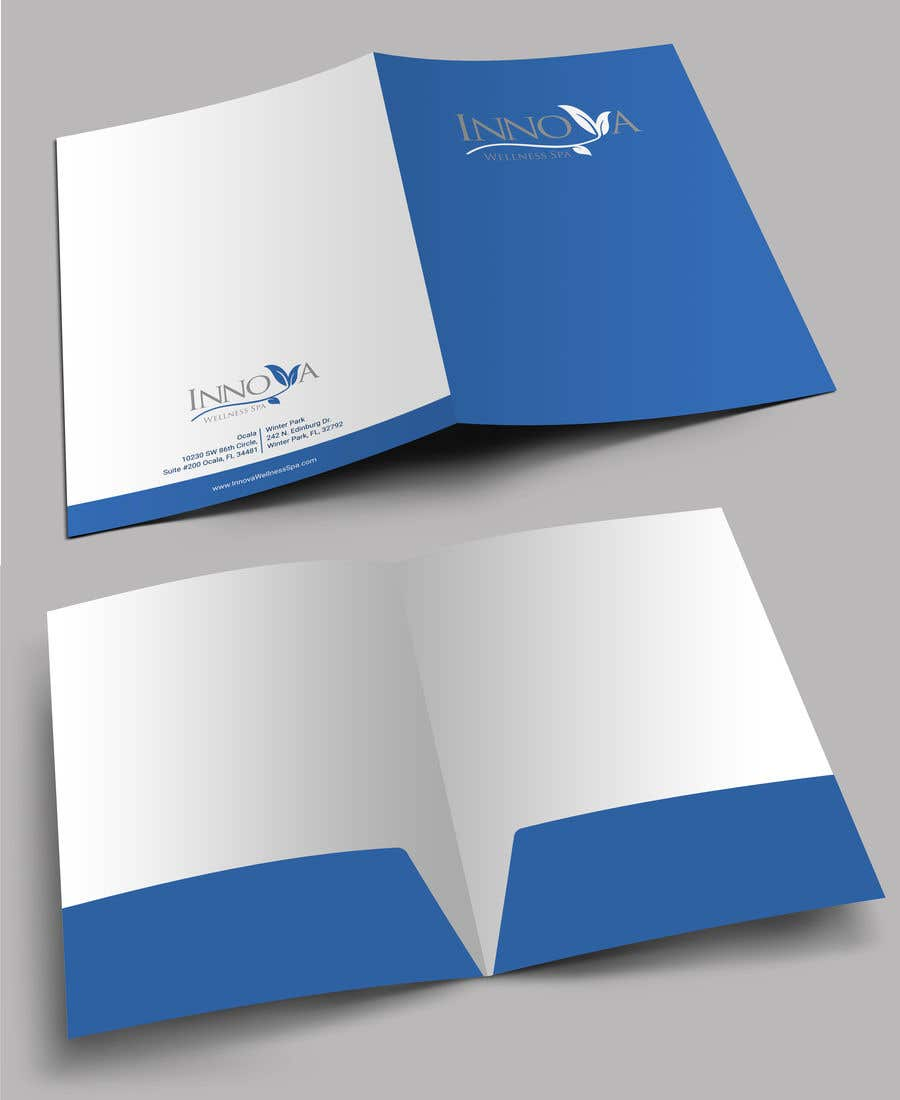 Contest Entry #                                        35                                      for                                         Design a Folder for a high end medical spa