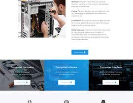 #103 untuk Website rebuild 2 page site with contact form (Computer Support business) oleh YousufAliBari
