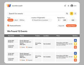 #29 cho UX design for event listing bởi Azim347