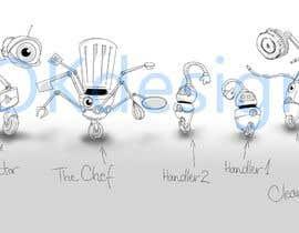 #19 cho Draw us 5 goofy robots bởi krisztinaoros