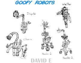 #55 cho Draw us 5 goofy robots bởi rodriguez23