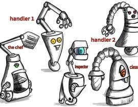 #13 cho Draw us 5 goofy robots bởi GhoneamArt