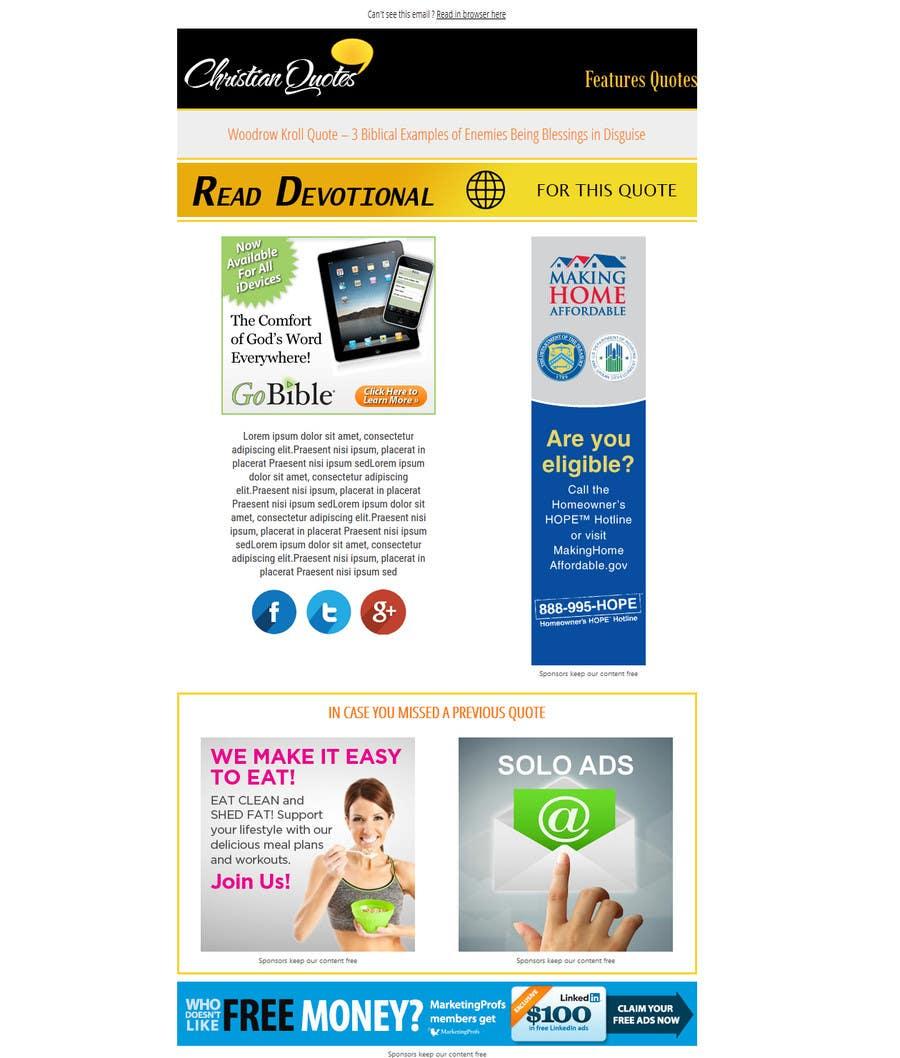 Konkurrenceindlæg #7 for Design a Responsive Email Template