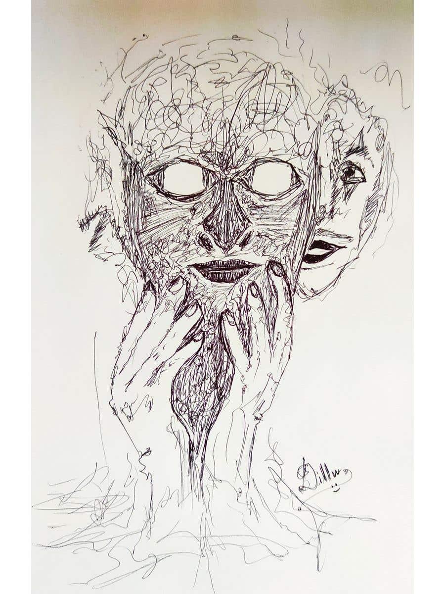 Kilpailutyö #                                        20                                      kilpailussa                                         Scribbled dark art