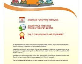 nº 11 pour Design a Flyer for Furniture Removals Company par noelniel99