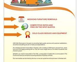 #13 untuk Design a Flyer for Furniture Removals Company oleh noelniel99