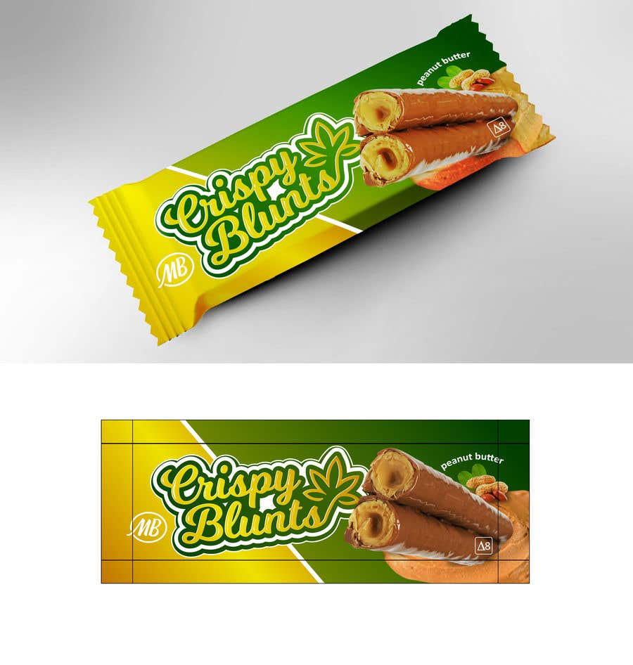 """Contest Entry #                                        31                                      for                                         design package wrapper metallic film for """"crispy blunts"""""""