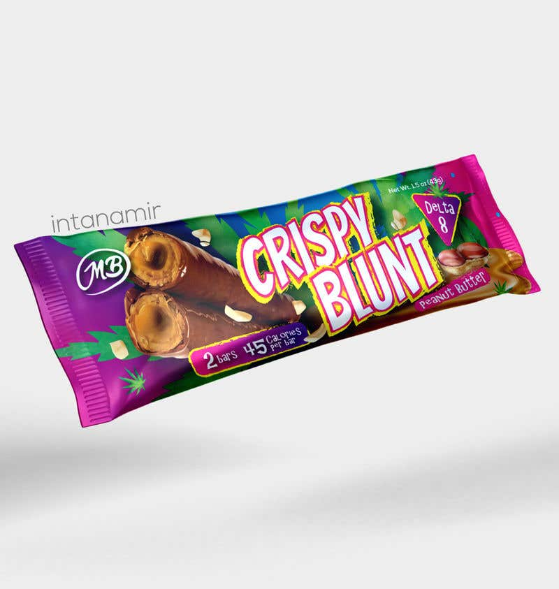 """Contest Entry #                                        51                                      for                                         design package wrapper metallic film for """"crispy blunts"""""""