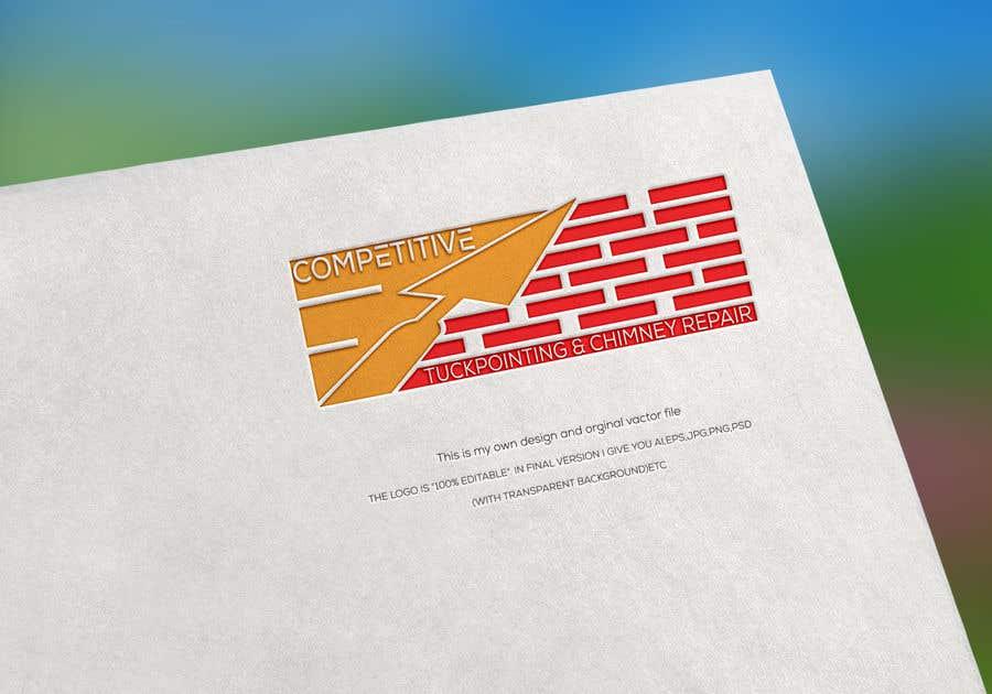 "Intrarea #                                        14                                      pentru concursul ""                                        Logo for tuckpointing & chimney repair company                                     """