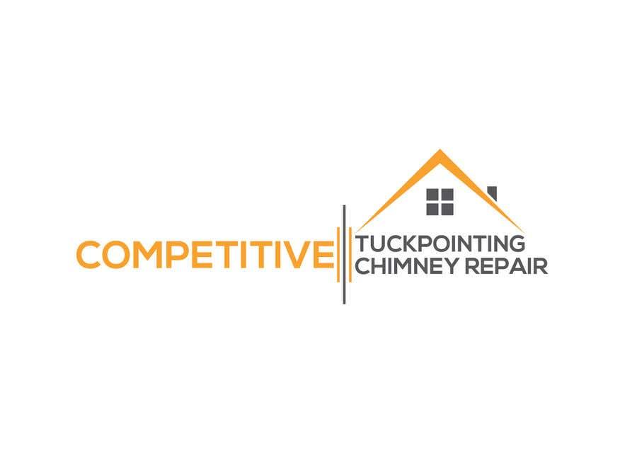 Kilpailutyö #                                        97                                      kilpailussa                                         Logo for tuckpointing & chimney repair company