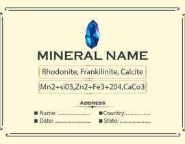 #85 cho I need a simple template for a mineral label which is like a business card like card for identifying minerals like a name-tag bởi abubakrenvt
