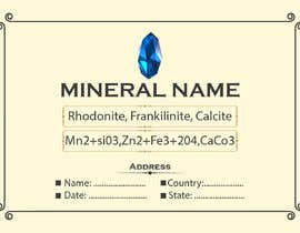 #86 cho I need a simple template for a mineral label which is like a business card like card for identifying minerals like a name-tag bởi abubakrenvt