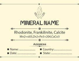 #89 cho I need a simple template for a mineral label which is like a business card like card for identifying minerals like a name-tag bởi abubakrenvt