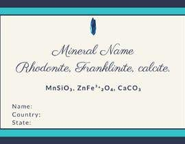 #98 cho I need a simple template for a mineral label which is like a business card like card for identifying minerals like a name-tag bởi RafiaZahid19