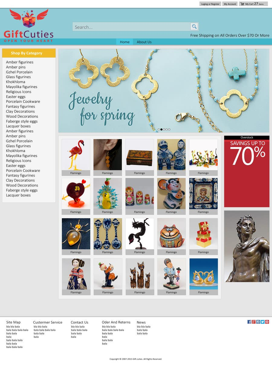 Entry 8 by hasithacj for website design for gifts and souvenirs contest entry 8 for website design for gifts and souvenirs online store psd only negle Images