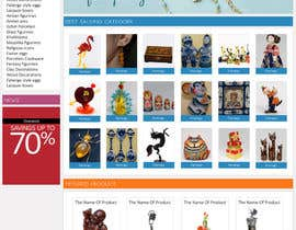 #13 untuk Website Design for Gifts and Souvenirs online store  PSD only oleh HasithaCJ