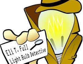"#47 for Cartoon Character of a ""Light Bulb Detective"" by manikmoon"