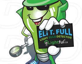 "#48 untuk Cartoon Character of a ""Light Bulb Detective"" oleh ntandodlodlo"