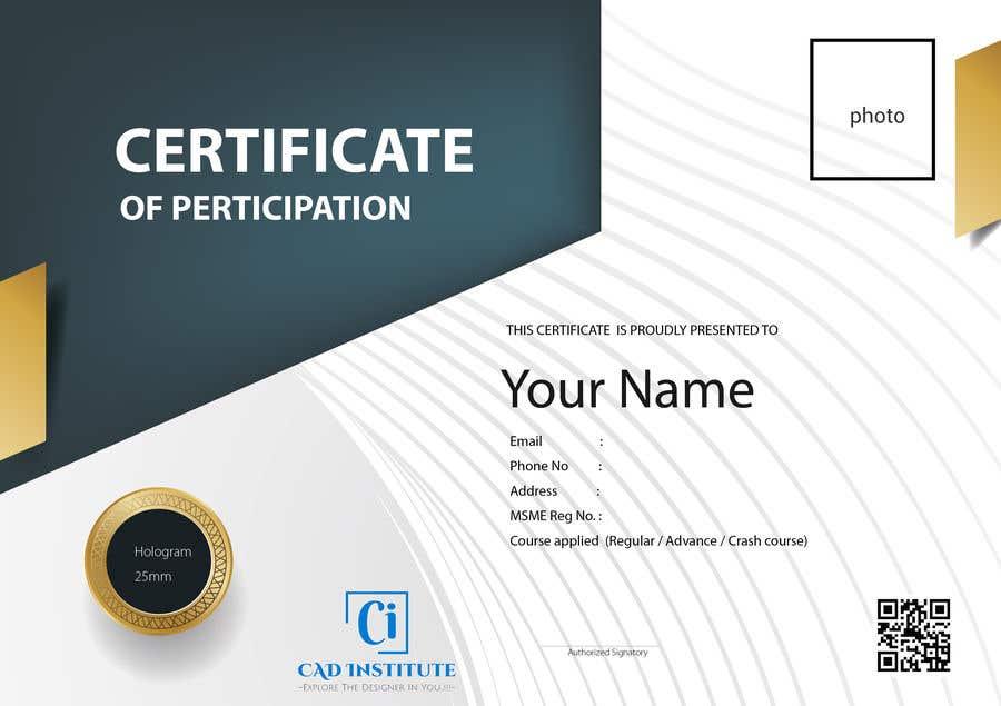 Konkurrenceindlæg #                                        45                                      for                                         Design 2 Certificates & 1 Marksheet format (for both Digital Certification & Hard Copy)