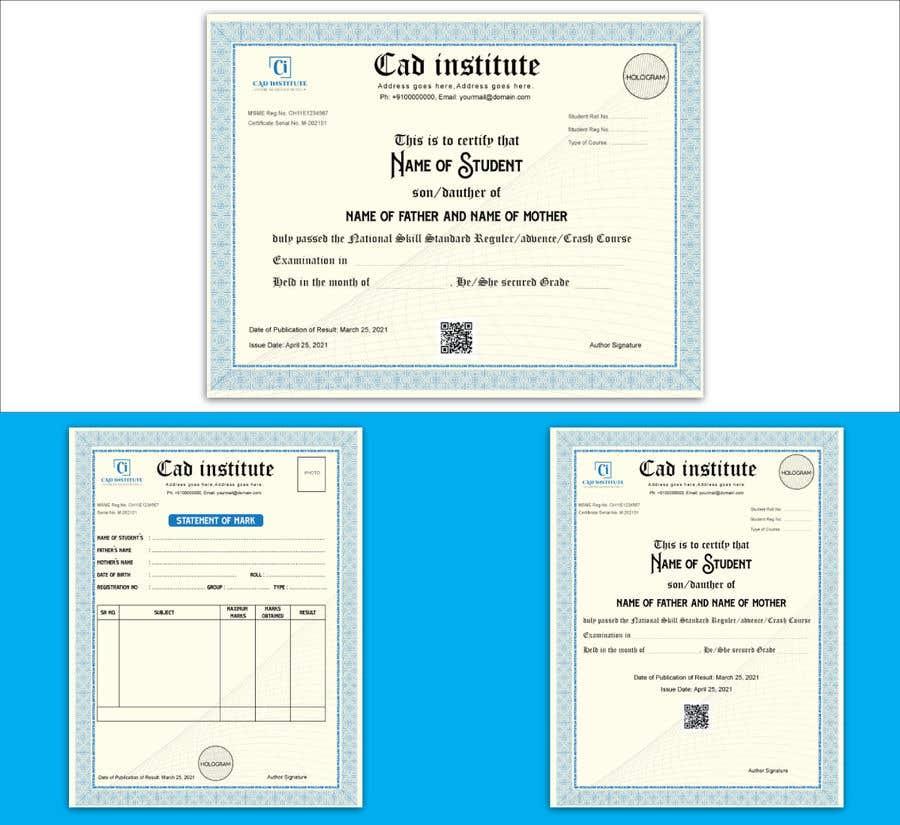 Konkurrenceindlæg #                                        27                                      for                                         Design 2 Certificates & 1 Marksheet format (for both Digital Certification & Hard Copy)