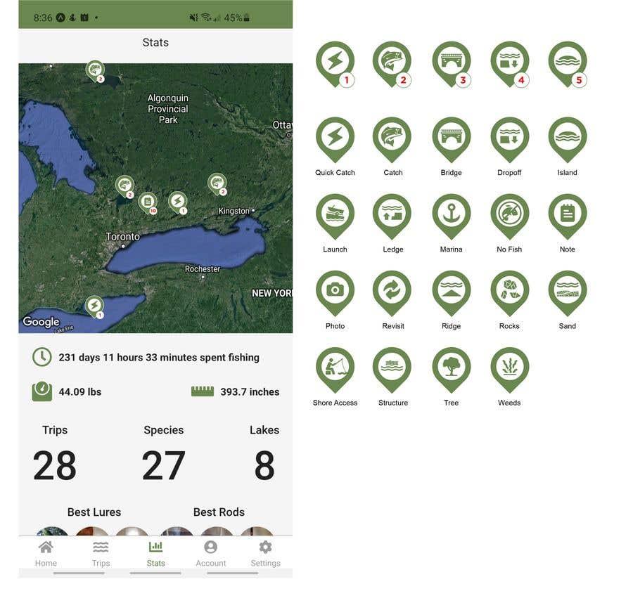 Penyertaan Peraduan #                                        13                                      untuk                                         Design map markers for the following features