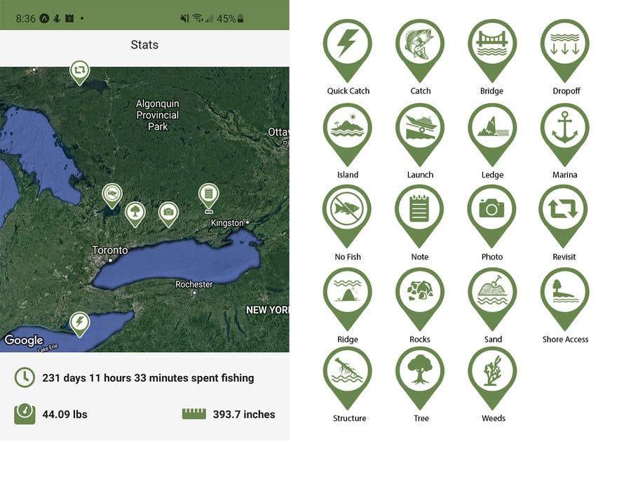 Penyertaan Peraduan #                                        15                                      untuk                                         Design map markers for the following features