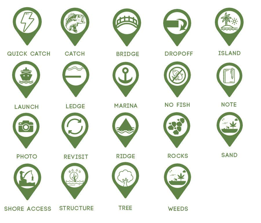 Penyertaan Peraduan #                                        5                                      untuk                                         Design map markers for the following features