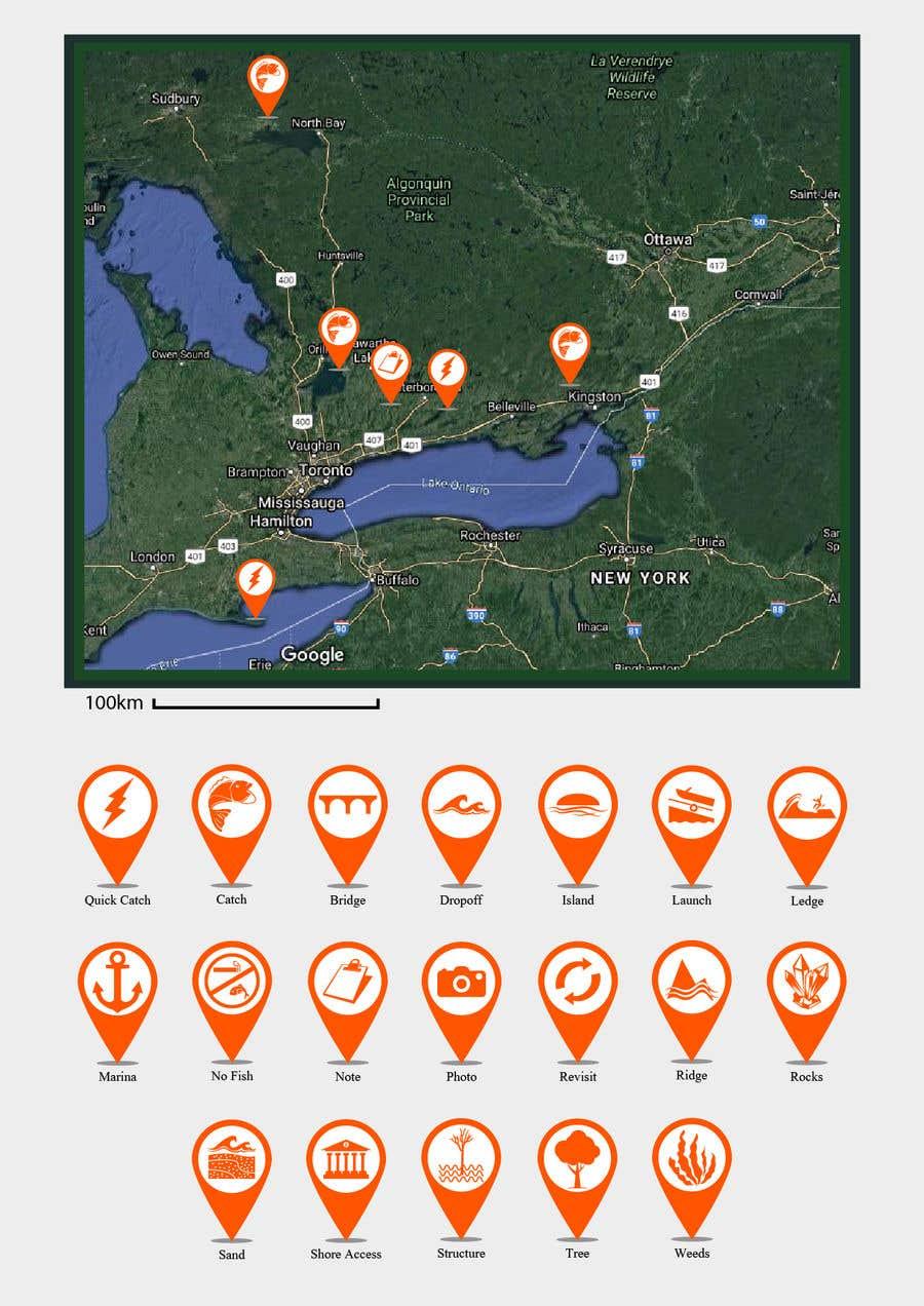 Penyertaan Peraduan #                                        11                                      untuk                                         Design map markers for the following features